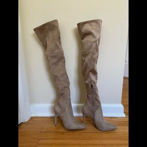Thigh High Suede Leather Kendall & Kylie Boots